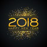 Illustration de fond de 2018 bonnes années avec le nombre de Typograph de scintillement d'or Conception de vacances de vecteur po illustration stock