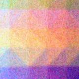 Illustration de fond carré de pointlilism impressionniste pourpre, orange et vert photo libre de droits