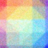 Illustration de fond carré de pointlilism impressionniste rouge, jaune, vert et bleu photo stock