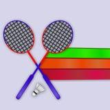 Illustration de fond de badminton de sport illustration stock