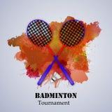 Illustration de fond de badminton de sport illustration libre de droits