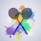 Illustration de fond de badminton de sport illustration de vecteur