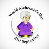 Illustration de fond de jour du ` s d'Alzheimer du monde Image stock
