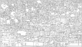 Illustration de fond du paysage urbain brésilien avec le bâtiment résidentiel dans le détail élevé Images libres de droits