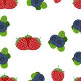Illustration de fond de fruit de nourriture fraîche de fraise de modèle de baie de conception illustration stock