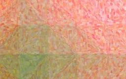 Illustration de fond impressionniste rose et vert de peinture à l'huile photographie stock