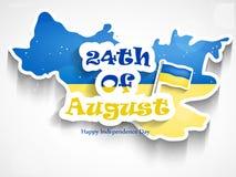 Illustration de fond de Jour de la Déclaration d'Indépendance de l'Ukraine Photographie stock libre de droits