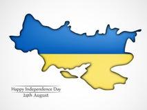 Illustration de fond de Jour de la Déclaration d'Indépendance de l'Ukraine Photos libres de droits