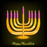 Illustration de fond juif de Hanoucca de vacances illustration libre de droits
