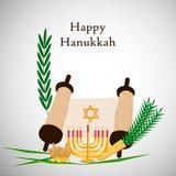Illustration de fond juif de Hanoucca de vacances illustration de vecteur