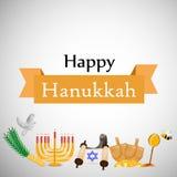 Illustration de fond juif de Hanoucca de vacances illustration stock