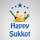 Illustration de fond juif de Sukkot de vacances illustration stock