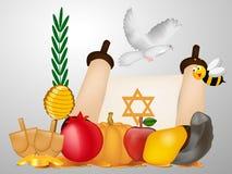 Illustration de fond juif de Yom Kippour illustration stock