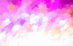 Illustration de fond peinte par aquarelle de rose, orange et blanche lumineuse illustration stock
