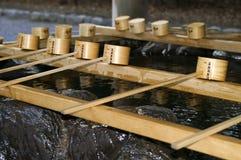 Illustration de fontaine japonaise de purification images libres de droits