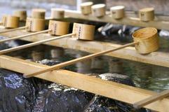 Illustration de fontaine japonaise de purification images stock