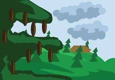 Illustration de Forest Vector de pins Images stock