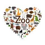 Illustration de forme de coeur de zoo illustration de vecteur