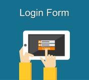 Illustration de forme de login Conception plate Forme de login sur le concept d'illustration d'écran d'instrument Photographie stock libre de droits