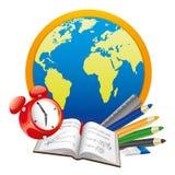 Illustration de fournitures scolaires. Photo libre de droits