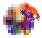 illustration de fractale du résumé 3d pour la conception créative Photographie stock libre de droits