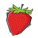 Illustration de fraises Photographie stock