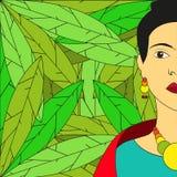 Illustration de Frida Kahlo Vector Images stock