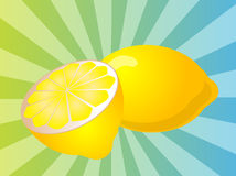 Illustration de fruit de citron illustration stock