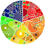 Illustration de fruit et de baies Photos stock