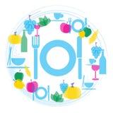 Illustration de gastronomie de nourriture et de boissons Photo libre de droits