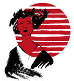 Illustration de geisha kimono Image libre de droits