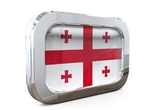Illustration de Georgia Button Flag 3D Image libre de droits