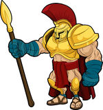 Illustration de gladiateur spartiate illustration libre de droits