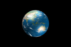 Illustration de globe avec des données géographiques réelles Photos stock