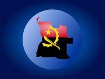 Illustration de globe de l'Angola illustration stock