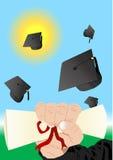 Illustration de graduation Photos stock