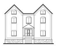 Illustration de grande maison Images stock