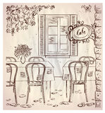 Illustration de graphique de café de rue. Image stock