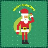 Illustration de graphique de Santa Gift Green Background Vector de Joyeux Noël Illustration de Vecteur