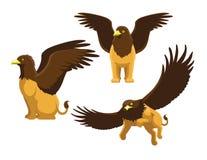 Illustration de Griffin Poses Cute Cartoon Vector illustration de vecteur