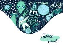 Illustration de griffonnage de l'espace photos stock