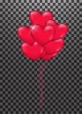 Illustration de groupe de ballon de coeur illustration de vecteur