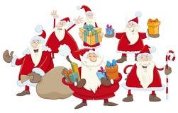 Illustration de groupe du père noël de Noël Images stock