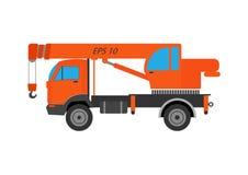Illustration de grue de camion Grue de camion sur le fond blanc Grue de camion Illustration de grue Vec d'isolement par grue de c Photos stock