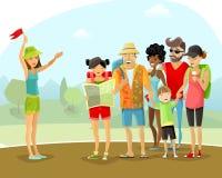 Illustration de guide de vacances de visite Images stock