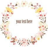 Illustration de guirlande de fleurs de vecteur Photographie stock libre de droits