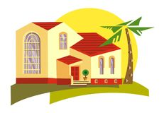 Illustration de Hacienda photos stock