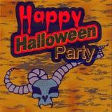 Illustration de Halloween d'une sorcière Images stock