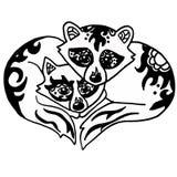 Illustration de haute qualité de deux ratons laveurs mignons Photo stock