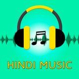 Illustration de Hindi Music Means Song Soundtrack 3d illustration stock